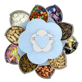 Snack Box Flower Shape, Rotating Snack Tray, Candy Storage Box