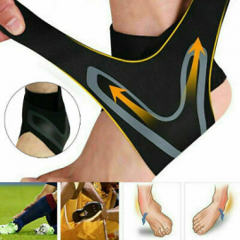 Sports Ankle Support Elastic Sleeve Bandage Wrap Compression Foot Brace Protect