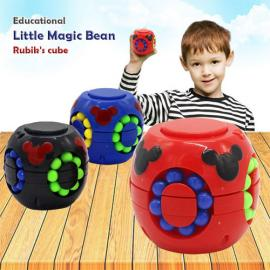 2PCS Fidget Toys Little Magic Bean Gyro Colorful Magic Cube