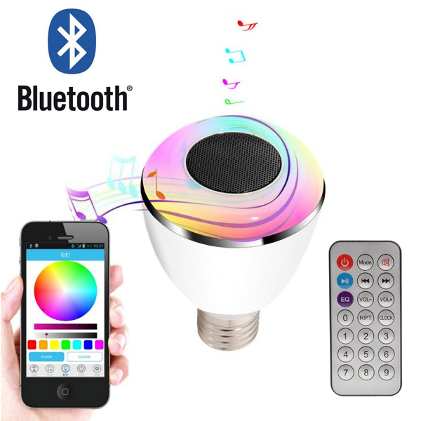 Bluetooth Color Smart LED Speaker Bulb