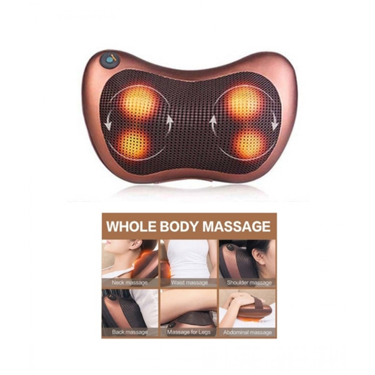 Back Massage Pillow With Heating Function
