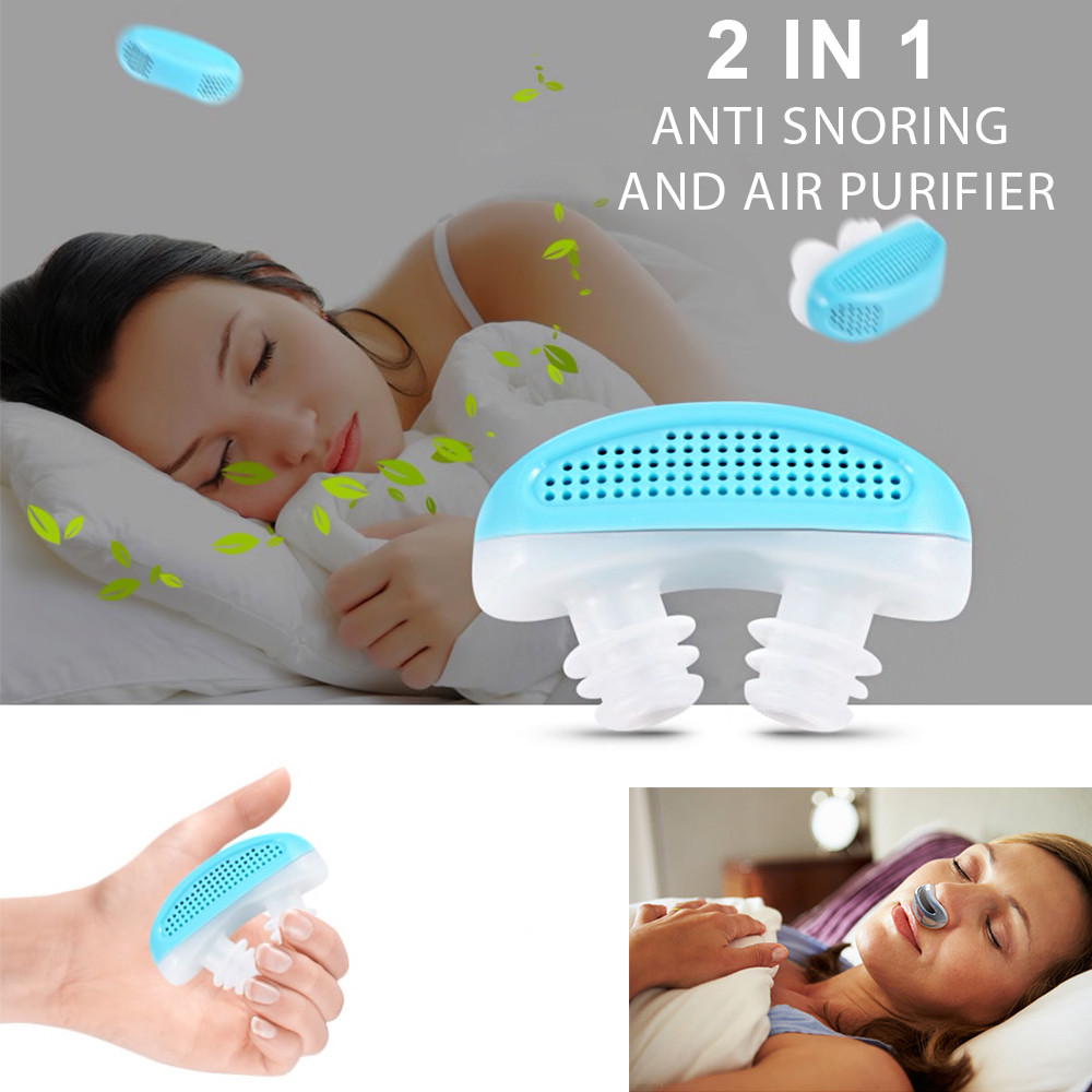 Anti Snoring / Air Purifier - 2 In 1 - Blue & White