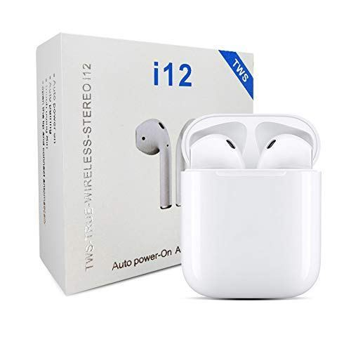 I12 TWS Bluetooth Earphones Wireless Touch Control Earbuds