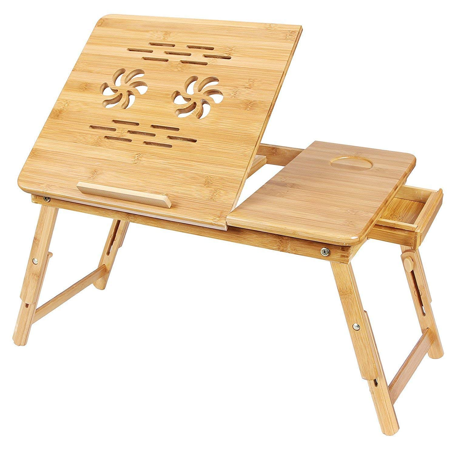 Multipurpose Wooden Laptop Table with Drawer Study Table