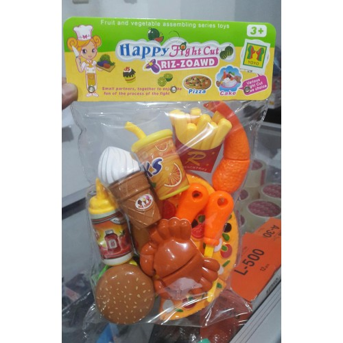 Happy fight cut pizza cake fruit toy set