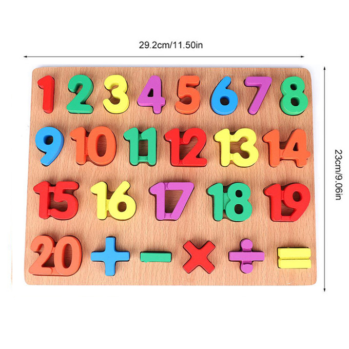 Thick Wooden 123 Numbers 3D Board Puzzle