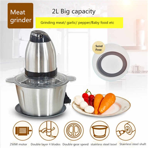 Meat Grinder Multifunctional Household Electric Food Processor Stainless Steel Meat Cutter Blender Chopper Electric
